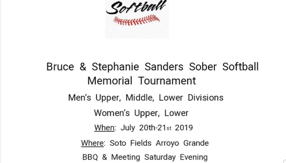 32nd Annual Central Coast Sober Softball Tourney