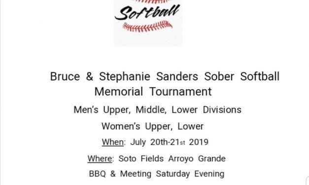 32nd Annual Central Coast Sober Softball Tourney
